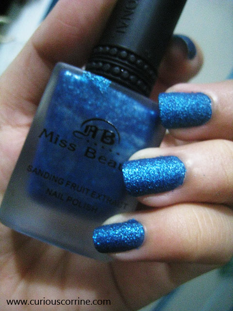 Wearing Miss Beauty Sanding Fruit Extract Nail Polish