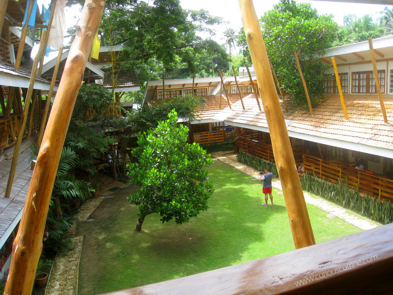 The view from the second floor